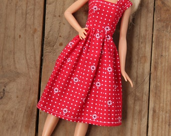 Barbie Dress, Barbie Clothes, 11.5 inch doll clothes, red dress