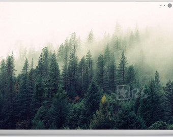 Surface book/Pro 4 Decals **Mountain Forest Fog** Microsoft Surface Stickers/Decal/Microsoft Lap Top