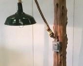 Cedar Driftwood Floor Lam...