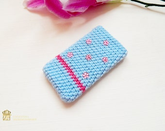 Crocheted cell phone case, christmas phone cases for iphone 6s plus, knit iphone, crochet iphone 6 case, iphone 6plus cover crochet