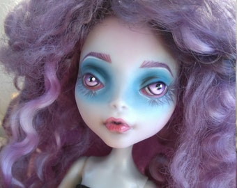OOAK Monster High Doll- Lagoona Blue. Repainted and rerooted.