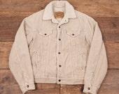 Mens Vintage Levis White Tab Sherpa Corduroy Trucker Jacket Beige M 38 R4708