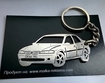 Opel Keychain, Opel, Opel Vectra keychain, Opel Vectra B, Stainless Steel Keyring, personalised keyring, fathers day gift
