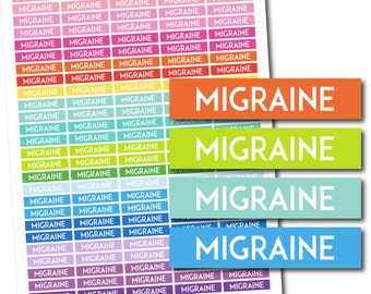 Migraine stickers, Migraine planner stickers, Migraine printable stickers, Migraine weekly stickers, Migraine monthly stickers, STI-675