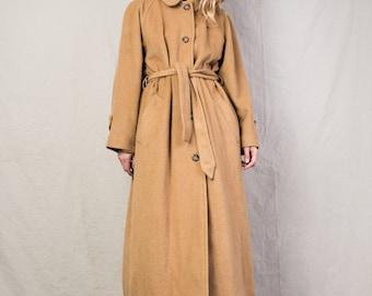 AMAZING Vintage RALPH LAUREN Oversized Camel Hair Coat / S-M / jacket retro hipster wool overcoat beige