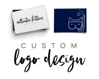 Custom Logo Design - Business Logo - Custom Branding Package - Logo Design - Minimal Logo - Watercolor Logo