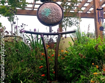 Metal Sculpture, Garden Art,garden Sculpture,zen Garden,meditation, Asian,