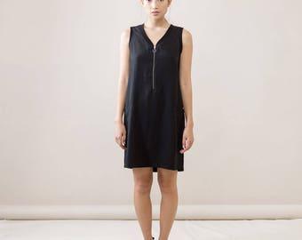 Black summer Dress,black short dress,Basic summer Dress,sleeveles Dress,classic dress,midi black dress,summer fashion,sleeveless black dress