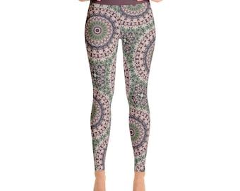 Unique Yoga Leggings. Womens Stretch Leggings. Fashion Leggings. Mandala Yoga Tights. Yoga Print Pants. Mandala Pants. Stretch Pants