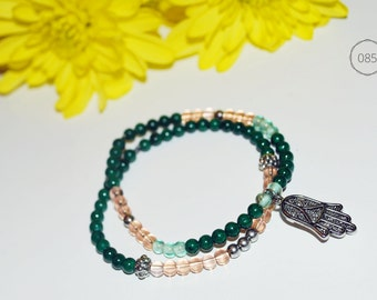 Pair of hand Hamsa bracelets