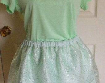 Light green Tinkerbell inspired running outfit