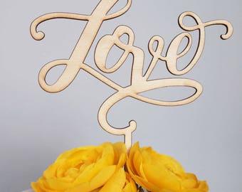 Romantic Love  laser cut wooden topper
