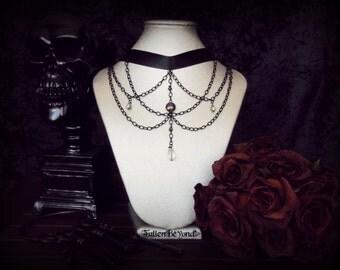 Black Gothic Chain Choker: Lillian Choker