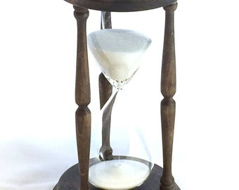 Inlaid Wood Hourglass - Sand Timer - Nautical Renaissance Baroque Medieval Decoration