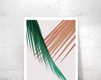 Palm Printable Art, Palm Leaf Print, Printable Leaf Palm, Palm Leaf Wall Decor, Palm Leaf Art, Tropical Leaf Print, Modern Palm Print, Palm