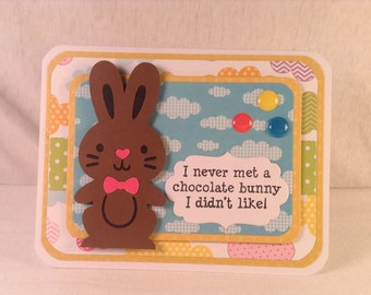 CHOCOLATE EASTER BUNNY Gift Card Holder
