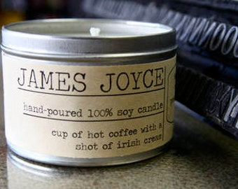 James Joyce Inspired Soy Candle