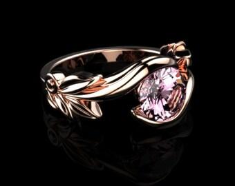 Pink Topaz Ring Rose Gold Engagement Ring Pink Topaz Engagement Ring Pink Gemstone Engagement Ring Pink Topaz Ring October Birthstone Ring