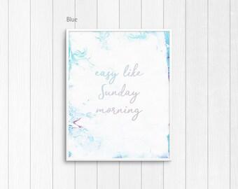 Easy Like Sunday Morning Print — Easy Like Sunday Morning music lyrics, Easy by Lionel Richie