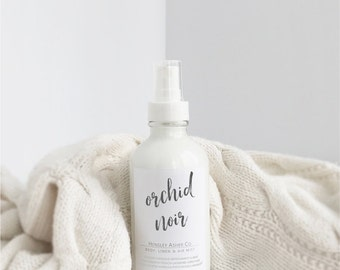 Orchid Noir Body/Linen/Room Mist-fragrance-perfume-body spray-body mist-linen spray-linen mist-room spray-room mist-air mist-home deodorizer