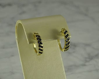 14K Gold / Sapphire Earrings (pierced)
