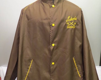 Vintage Local Sports Polyester Jacket - Victoria Lakers Champs 74-75 - Men's L