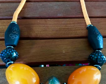 Senegalese Handmade Sunset Necklace