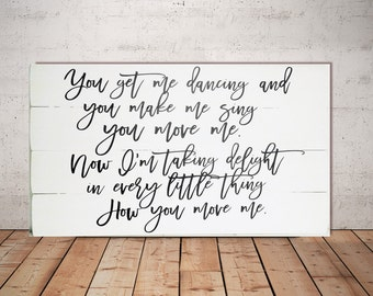 Wedding Song Art - Wedding Lyrics Wall Art - Wedding Song Lyric - Wedding Song Lyric Art - Personalized Wedding Song Large Wood Sign