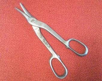 "Vintage Blue-Point/Snap-On Tin Snips Metal Cutting Shears 13"" Made In USA Kenosha Wis."