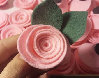 3 Felt Rose Magnets, Felt Flower Magnets, Rose Magnets, Felt Flowers, Fridge Magnets, Flower Magnets, Home Decor, Felt Magnets, Gift for Her