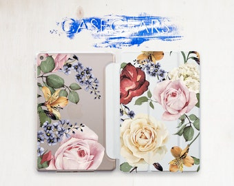 Floral iPad Air 2 Case Flower iPad Air 2 Cover iPad Mini 4 Cover Clear iPad 10.5 Case Floral iPad Mini 4 Case iPad Air 3 Case Pretty CGSC023