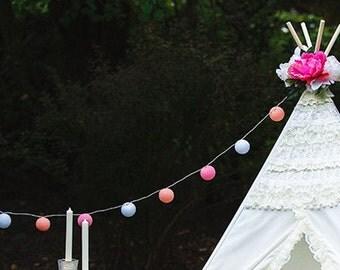 MIX'N'MATCH 12 Cotton Balls String Light | String Ball Light | Room Decor | Cotton Ball Light | Fairy Light | Hand Made | Photo Prop Decor