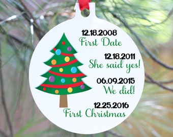 Our First Christmas Ornament, Our First Christmas, Just Married Ornament, Wedding Ornament, Personalized Christmas Ornament, Wedding Gift