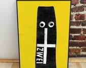 Viva Zwei B2 Screen Print Poster