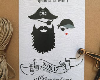 Save the date wedding • wedding • Printable Pirates Pirates
