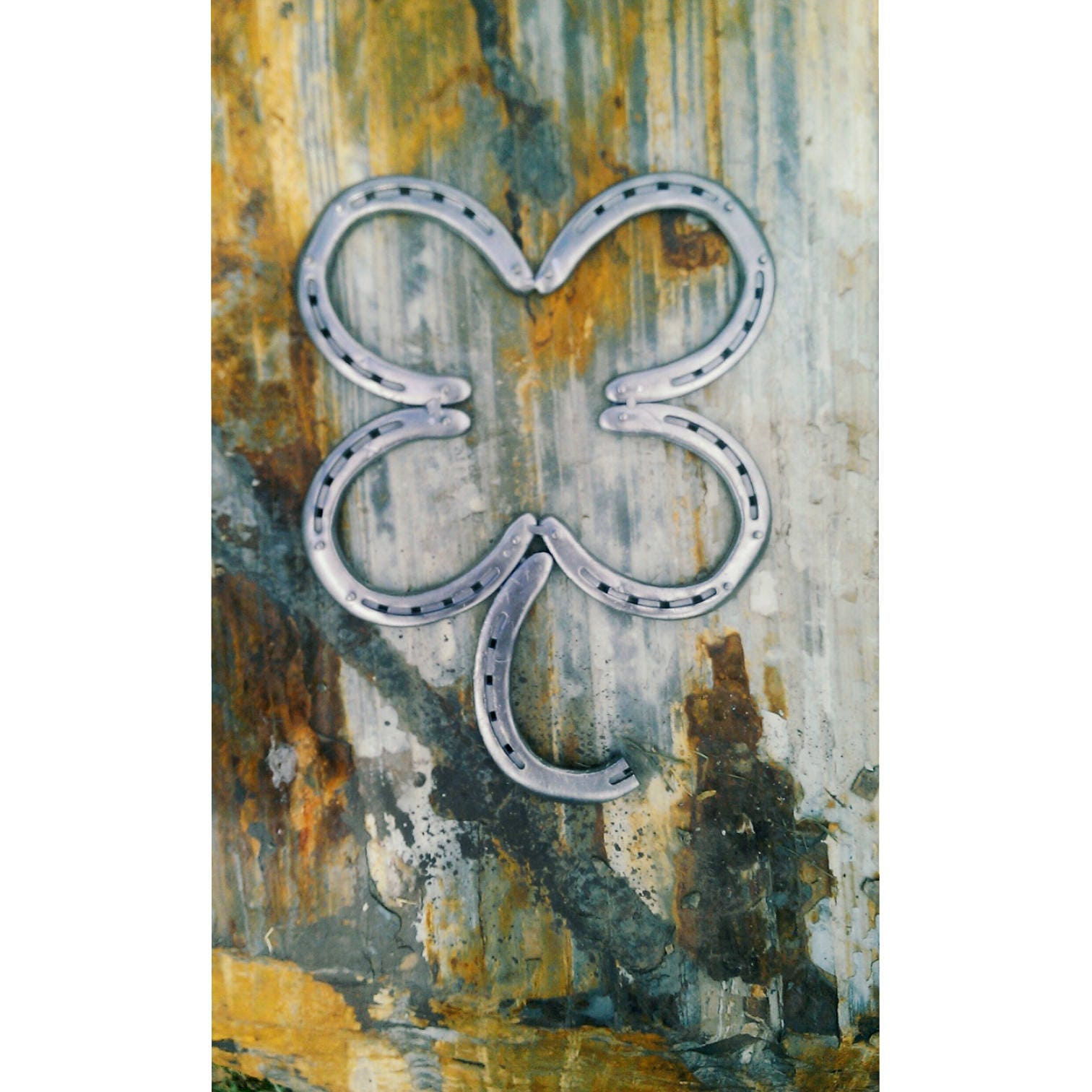 Country Home Decor Horse Decor Irish Horseshoe Clover Metal