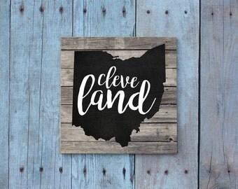 Cleveland / Cleveland Magnet / Cleveland Ohio / Ohio Magnet / Cleveland Gift / Magnet / Fridge Magnet / Cleveland Cavaliers / Gift Under 5