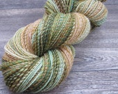 """Handspun Falkland Wool in Greens and Neutrals - sport weight, 2-ply, """"Hello, Peculiar"""""""