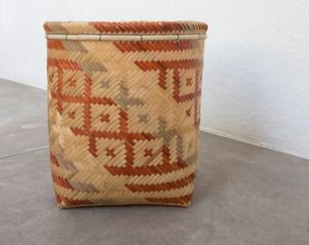 Urucubi Basket / Handmade Woven Basket / Ethnic Basket / Primitive Decor