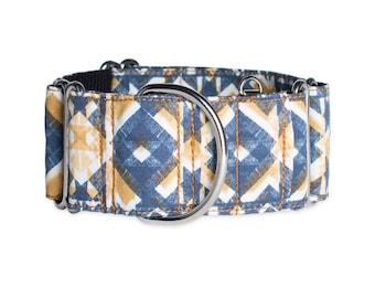 Dog collar & Leash (optional) MIKONOS, Martingale or metal buckle
