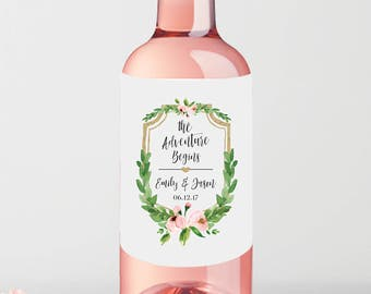 Mini Wine Bottle Labels Wedding Favor