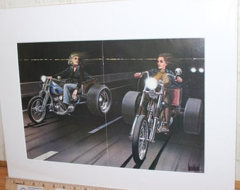 "David Mann ""Mann Trikes"" 16'' x 20'' Matted Motorcycle Biker Art #xx18ezrxm"