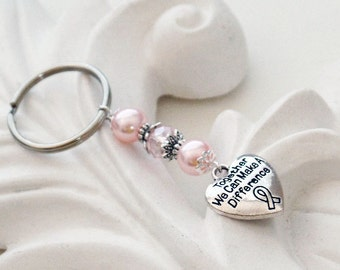 Cancer Awareness Keychain | Hope Keychain | Pink Ribbon Keychain