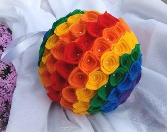 Rainbow Bouquet Flower Ball