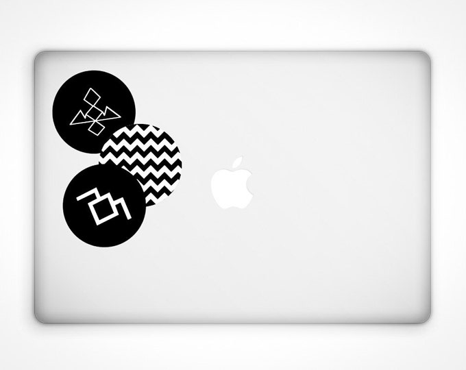 Featured listing image: Twin Peaks Decal Set - Vinyl Stickers / David Lynch / The Black Lodge