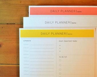 Day Planner, To Do list, Day Organizer, Printable Planner, Day Designer, Minimalist Planner, Productivity Planner, Daily Schedule Planner