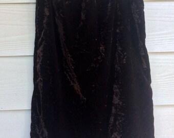 Vintage 90s crushed velvet skirt size M/L