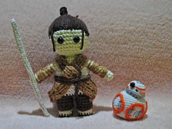 Rey Amigurumi Star Wars : Rey Star Wars amigurumi