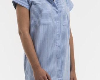 Paula tunic top 100% cotton Poplin for wife gifts