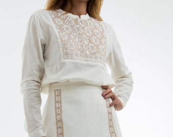 """""""JODI"""" 100% cotton embroidery cotton skirt or metal, for her clothing for woman gift for women"""